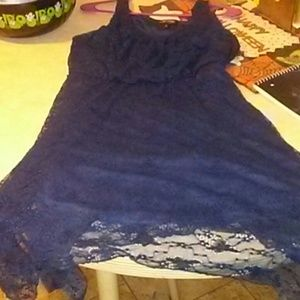 Xtra large navy blue dress